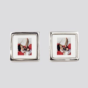 Vintage Pin-Up Square Cufflinks