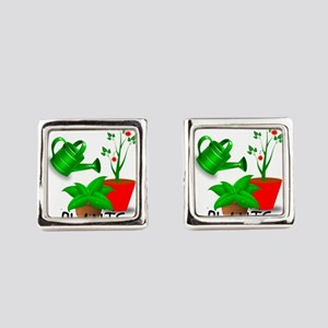 Sometimes I Wet My Plants Square Cufflinks