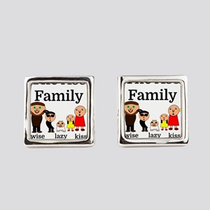 The Ass Family Square Cufflinks