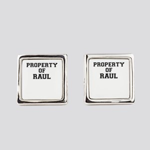 Property of RAUL Square Cufflinks