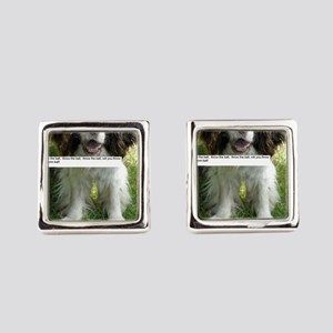 Throw the Ball English Springer Spaniel  Cufflinks