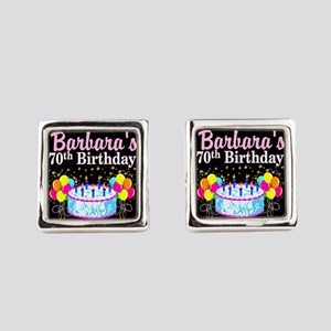 70TH PARTY GIRL Square Cufflinks