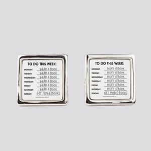 READ A BOOK Square Cufflinks