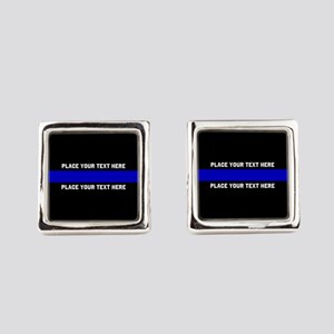 Thin Blue Line Customized Square Cufflinks