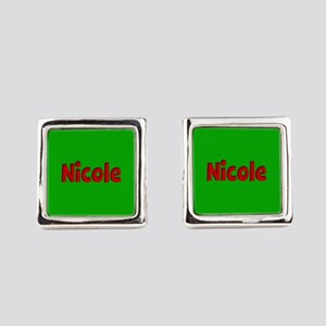 Nicole Green and Red Cufflinks