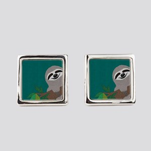 Sloth Square Cufflinks