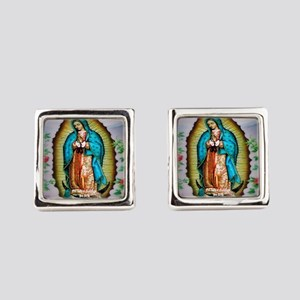 Our Lady of Guadalupe Square Cufflinks