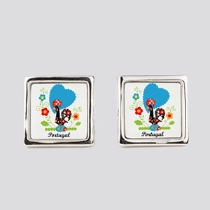 Portuguese Rooster Square Cufflinks