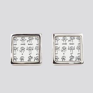 Beautiful (math) dance moves Square Cufflinks
