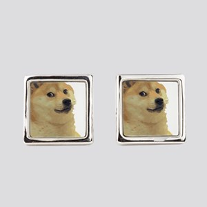 DogeCoin Doge Staring Square Cufflinks