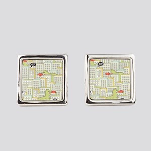 Monsters Attack City Cufflinks