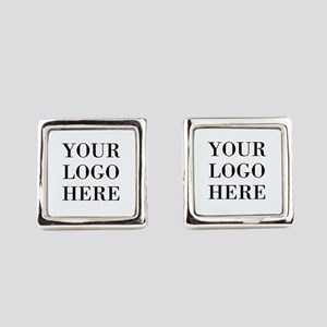 Your Logo Here Square Cufflinks