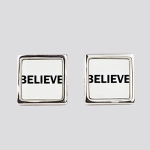 Believe Inspiration Motivation Bo Square Cufflinks