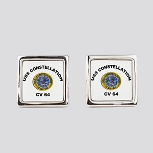 USS Constellation CV-64 Square Cufflinks