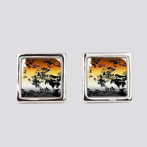 Pride Bear Colors Square Cufflinks