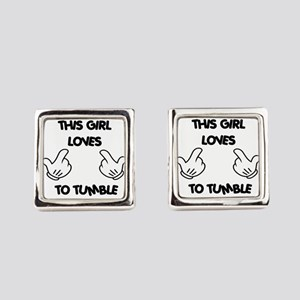 This Girls Loves to Tumble Square Cufflinks