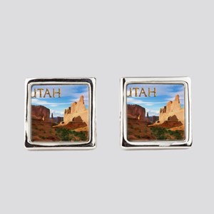 Utah smaller Square Cufflinks