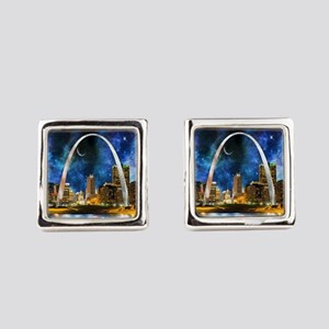 Spacey St. Louis Skyline Square Cufflinks