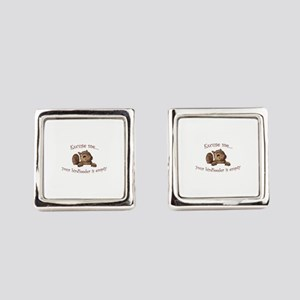 Excuse me...your birdfeeder is em Square Cufflinks