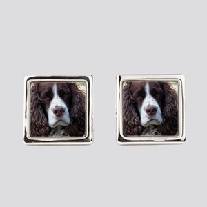 english springer spaniel Square Cufflinks