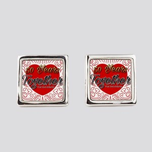 50 Years Together Square Cufflinks