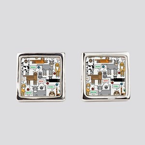 What Cats Say Square Cufflinks