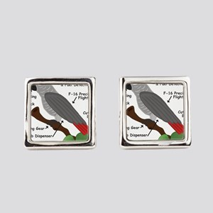 Anatomy of an African Grey Parrot Square Cufflinks