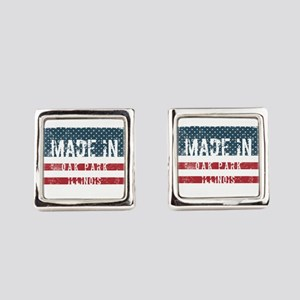 Made in Oak Park, Illinois Square Cufflinks