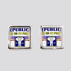 Republican party Square Cufflinks