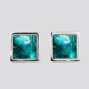 Fantasy unerwaterworld Square Cufflinks