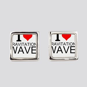 I Love Gravitational Waves Square Cufflinks