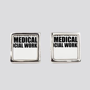 Trust Me, I'm A Medical Social Worker Square Cuffl