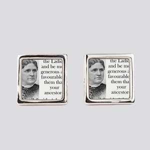 Remember The Ladies - Abigail Adams Square Cufflin