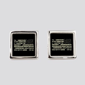 USS Kitty Hawk Square Cufflinks