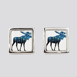 NORTHWOODS SUMMER NIGHT Square Cufflinks
