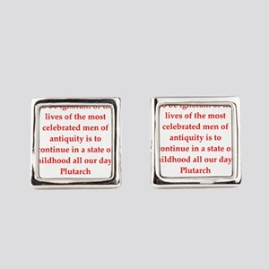 Plutarch quote Square Cufflinks