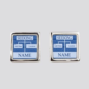 Genealogy Ancestor Seeking Square Cufflinks