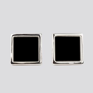 Solid Black Color Square Cufflinks