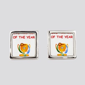 receptionist Square Cufflinks