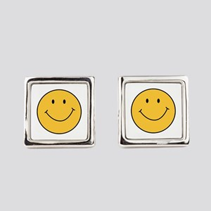 Happy Face Emoticon Office Supplies Cufflinks Cafepress