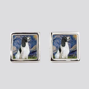 Starry - English Springer7 Square Cufflinks