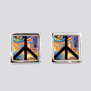 Abstract Peace Square Cufflinks