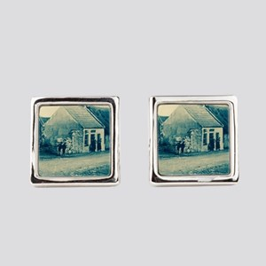 Cyanotype Claddagh Square Cufflinks
