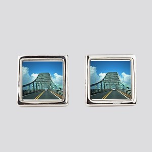 Robert Moses Bridge Square Cufflinks