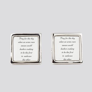 Peace and love Square Cufflinks