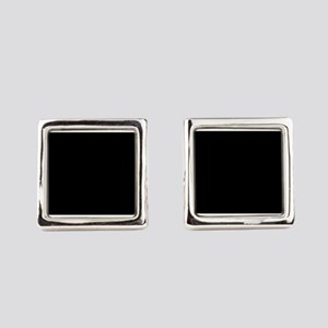 Simply Black Solid Color Square Cufflinks