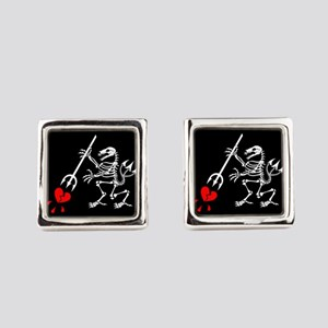 ST6 Pirate Flag Square Cufflinks