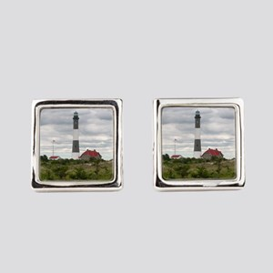 ROBERT_MOSES_STATE_PARK_LIGHTHOUS Square Cufflinks
