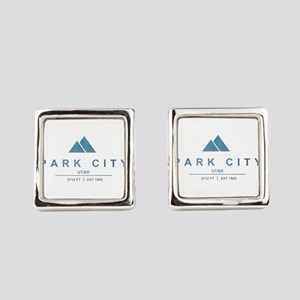 Park City Ski Resort Utah Square Cufflinks
