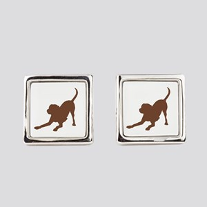 Lab 2 Brown Square Cufflinks